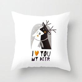 I love you my deer Throw Pillow