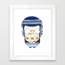 Happy To Serve Skull Framed Art Print
