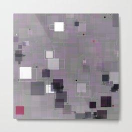 Purple Plum  Square Pattern Metal Print