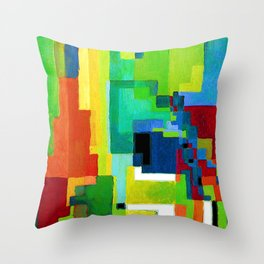 August Macke Colored Forms II Throw Pillow