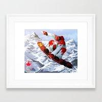 snowboard Framed Art Prints featuring Snowboard Sochi 2014 by kirono