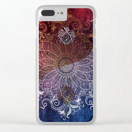 Yang fire & ice Clear iPhone Case