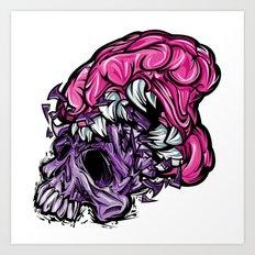 Skull CRUNCH ! Art Print
