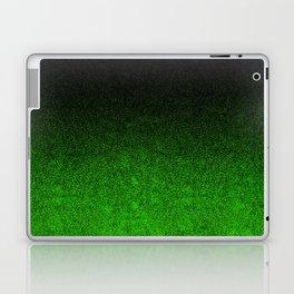 Green & Black Glitter Gradient Laptop & iPad Skin