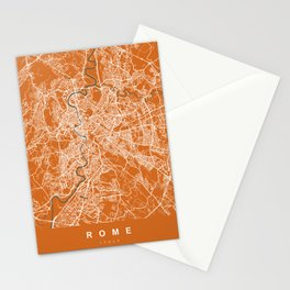 Rome Italy Map | Coffee & Green | More Colors, Review My Collections Stationery Cards