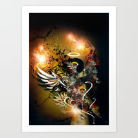 satan Art Prints featuring Satan by The Sastra