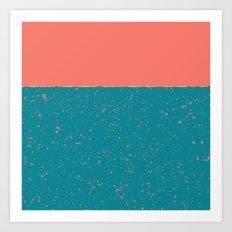 XVI - Peach 2 Art Print