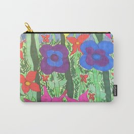 Bohemian Garden Floral Ilustration Carry-All Pouch