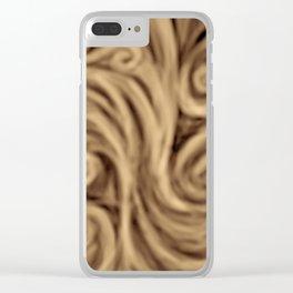 bohemian burnt sienna swirl pattern Clear iPhone Case