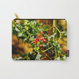 Winter Holly Carry-All Pouch