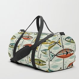 Vintage Color Block Fish Duffle Bag