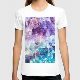 Multicolor quartz texture T-shirt
