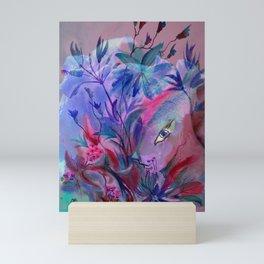 Fairy Bunny in Hiding Mini Art Print