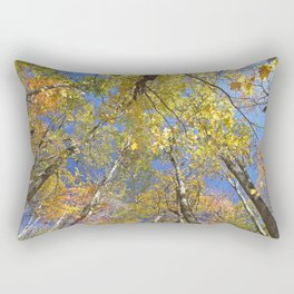 Brightly colored Autumn tree tops Rectangular Pillow