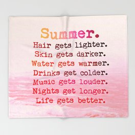 SUMMER IN PINK Throw Blanket