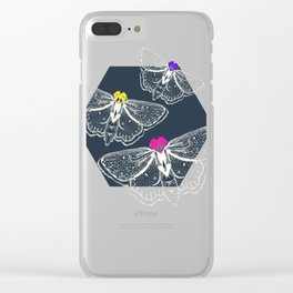 Bejeweled Moths Clear iPhone Case