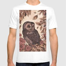 Tawny Owl Pink MEDIUM White Mens Fitted Tee