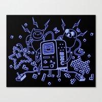 bmo Canvas Prints featuring BMO by Daniel Delgado