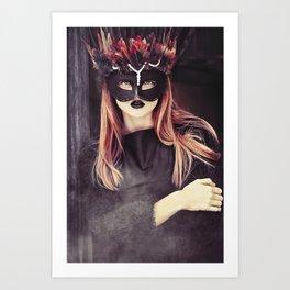 Feather portrait Art Print