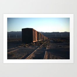 Freight Train Blues Art Print