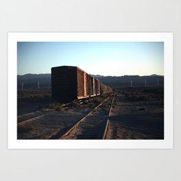 Freight Train Blues Art Print