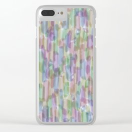 Brushstrokes on White Clear iPhone Case