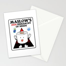 Maslow's 2020 Hierarchy Of Needs Stationery Cards