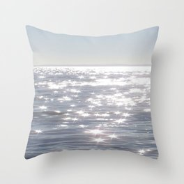 SILVER OCEAN Throw Pillow