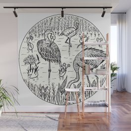Flamingo Wall Mural