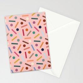 Postmodern Sticks + Stones in Pastel Pink Stationery Cards