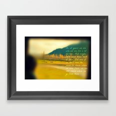 Traveling Inspiration  Framed Art Print