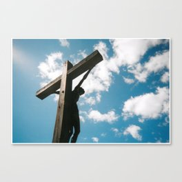 Behind the Cross Canvas Print