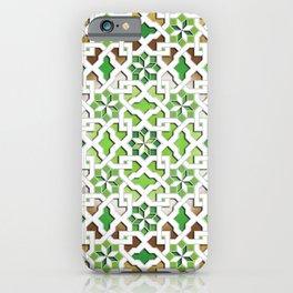 oriental pattern for Kris 3 - brown, green, white  iPhone Case