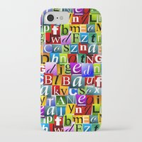 letters iPhone & iPod Cases featuring Letters by Ronda Bröc