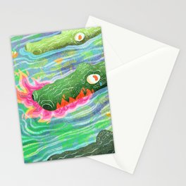 So Spicy Crocodile Stationery Cards
