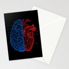 Heart and Brain Stationery Cards