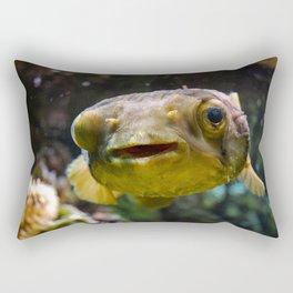 Smiling fugu fish Rectangular Pillow