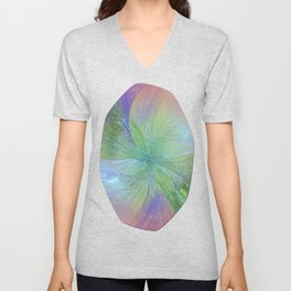 Mystic Warmth Abstract Fractal Unisex V-Neck