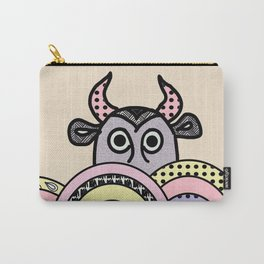 bull on pastel background Carry-All Pouch
