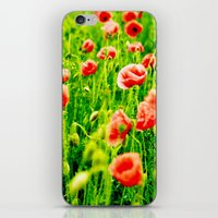 poppies iPhone & iPod Skins featuring Poppies by Falko Follert Art-FF77