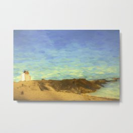 Lovers on a Beach at Sunset Metal Print