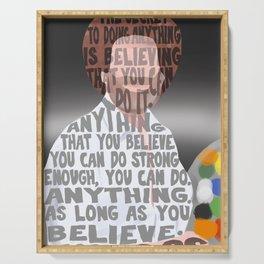 Bob Ross's Happy Little Beliefs Serving Tray