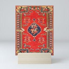 Bijar Kurdish Northwest Persian Kilim Print Mini Art Print