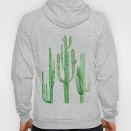 Three Amigos Cacti Green Hoody