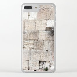 Wailing Wall Clear iPhone Case
