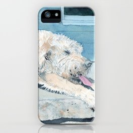 Stretching Cream Labradoodle iPhone Case