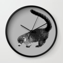 Greyscale Coati Wall Clock