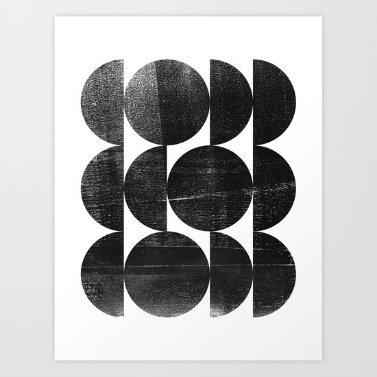 Black and White Mid Century Modern Op Art by mininst