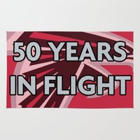 nfl Area & Throw Rugs featuring NFL - Falcons 50 Years by Katieb1013
