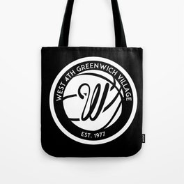 """West 4th """"The Cage"""", Greenwich Village, New York City Basketball Tote Bag"""